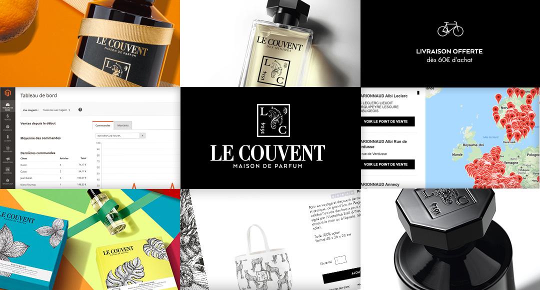 Le Couvent Parfum e-commerce Magento